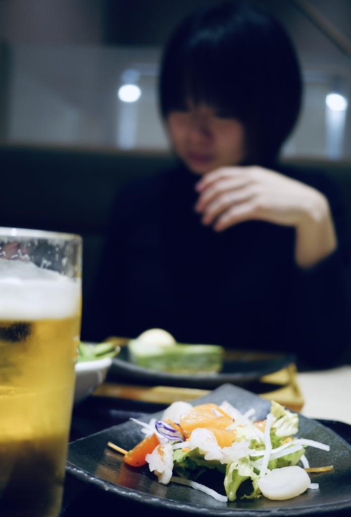 ご時世のなか、嫁さんと二人で飲みに行く