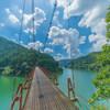 猛暑の「蔵王橋」