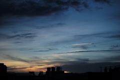 2017年6月26日の夕景