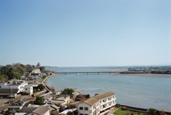 杵築城と杵築湾を望む