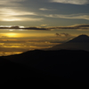 山旅4日目 陽が沈む