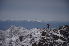冬山の山頂