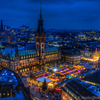 聖ペトリ教会から見下ろすハンブルグクリスマスマーケット