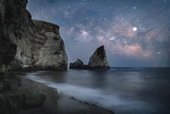 ロウソク岩と天の川