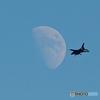 戦闘機と月 (岐阜基地航空祭の予行訓練にて)