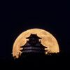 岐阜城と月 満月