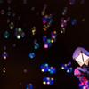 夜空に浮かぶキャンディ