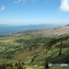国道最高地点標高2172mからの白根火山・芳ヶ平湿原方面