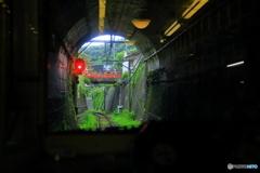 江ノ電のトンネル 極楽寺駅の近くです