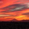 夏の夕焼け。。富士山と。。-012