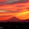 夏の夕焼け。。富士山と。。-013
