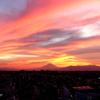 夏の夕焼け。。富士山と。。-011