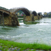 梅雨の錦帯橋