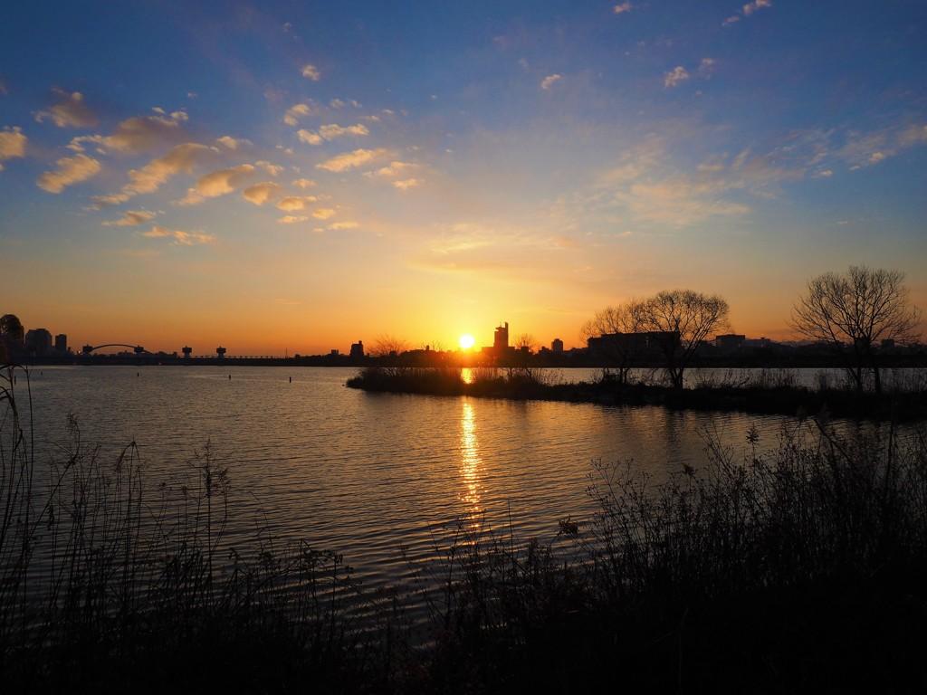 夕日が沈む時間