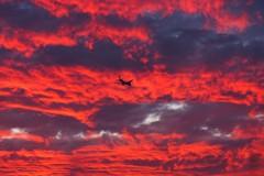 赤い雲とJAL