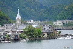 海辺に立つ教会