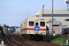 関東鉄道常総線 キハ350形ヘッドマーク付き