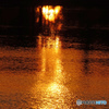 大池の夕焼け