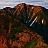 朝焼けの五竜岳
