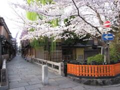 祇園白川の朝