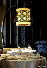 中華料理店のテーブルセッティング