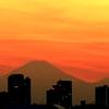 都心からの富士山・・・