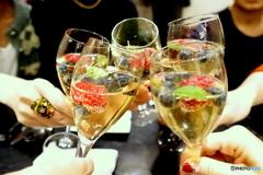 フルーツワインで乾杯 ♪