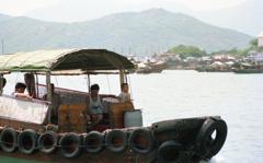 長州島の水上生活者 香港