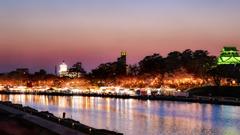 桜祭り夕景