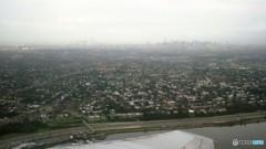 地平線にかすむマンハッタン NY