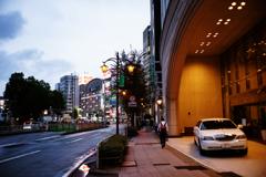 駅西の夕景