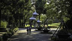 公園のモニュメント