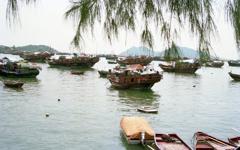 長州島の漁民 水上生活者 香港