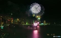 どこか侘しそうな花火 香港