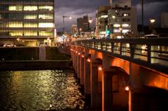 殿橋のライトアップ