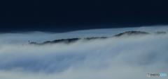 雲海の流れ
