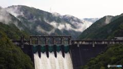 今朝の丸山ダム