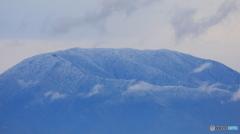 恵那山凍る