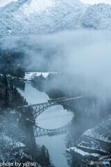 雪景色の只見線①