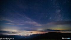 雲海とのペルセウス座流星群