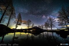 富士と星空Ⅱ