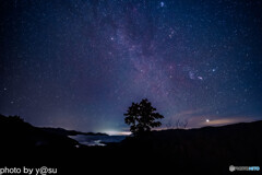 プチ雲海と冬の星座