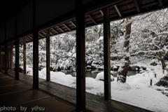 雪化粧の蓮花寺