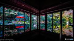 旧竹林寺の紅葉