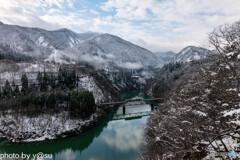 雪景色の只見線②