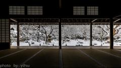 雪化粧の圓光寺
