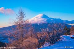 三つ峠山からの朝景2