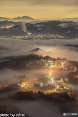 吉野山の雲海と千本桜④