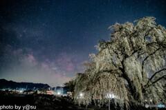 和美の桜と夏の天の川