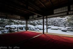 雪化粧の詩仙堂